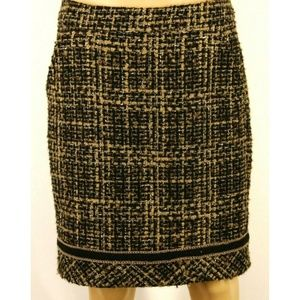 Trina Turk Womens Skirt Pencil Black Brown